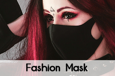 Black Gothic fashion mask for him and her