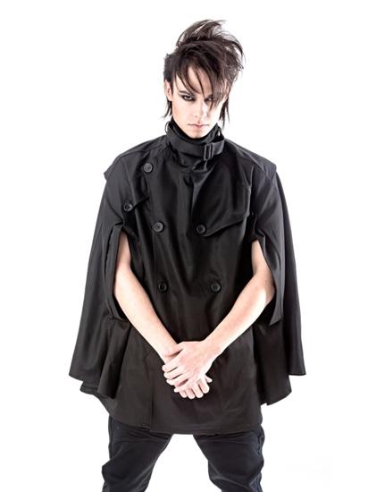 schwarze unisex cape jacke queen of darkness gothic. Black Bedroom Furniture Sets. Home Design Ideas