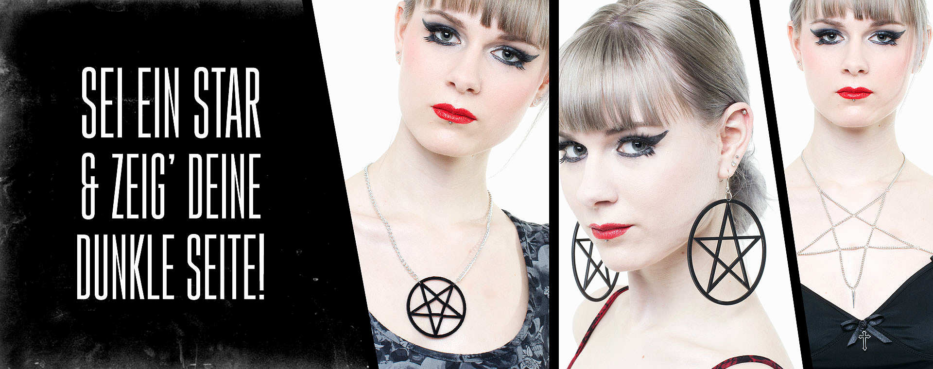 Gothic Pentagram Mode-Schmuck by Queen of Darkness Gothic Fashion